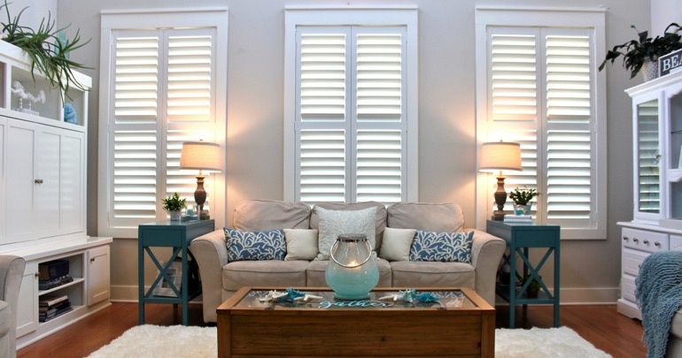 San Antonio lounge indoor shutters